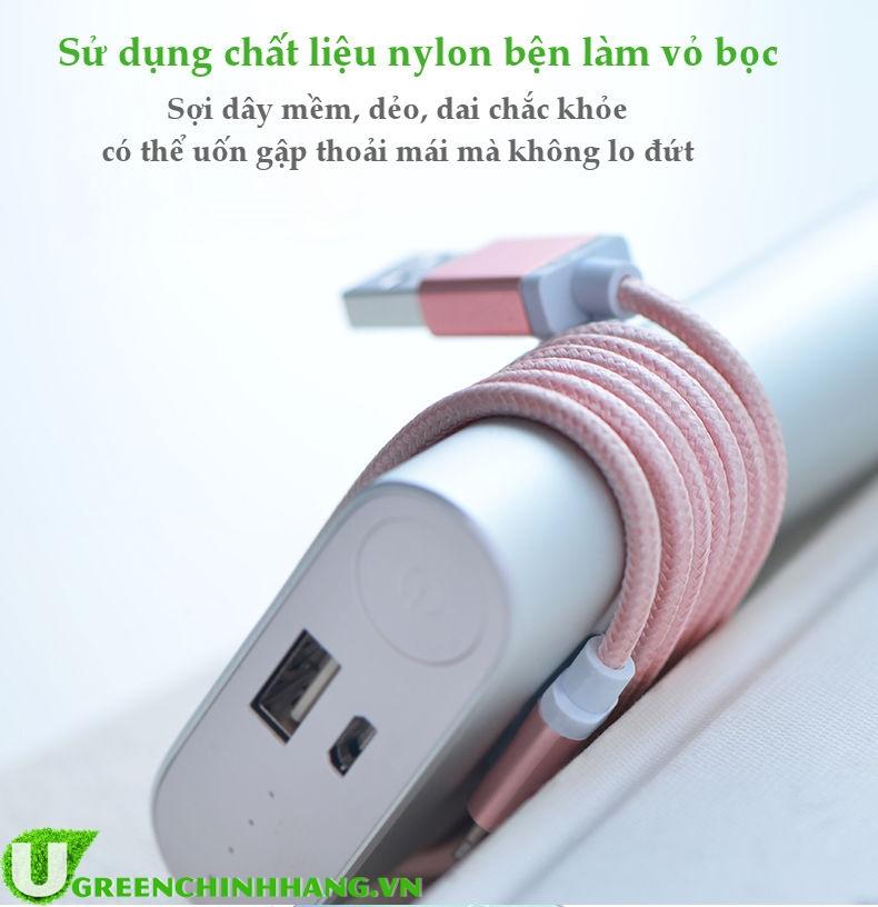 Cáp USB Lightning MFi Ugreen 30587