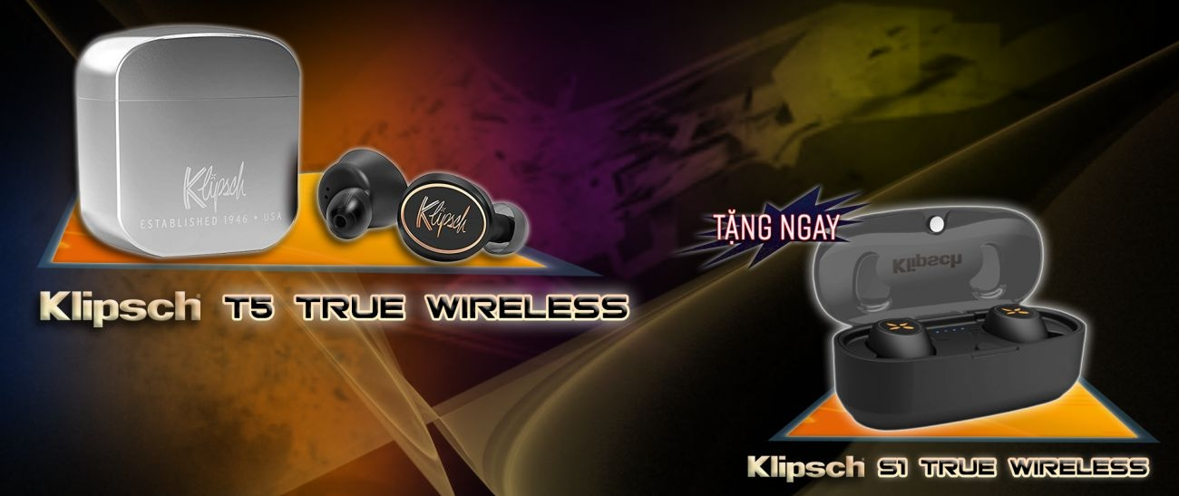 Combo Klipsch T5 Truewireless vs Klipsch S1 Truewireless