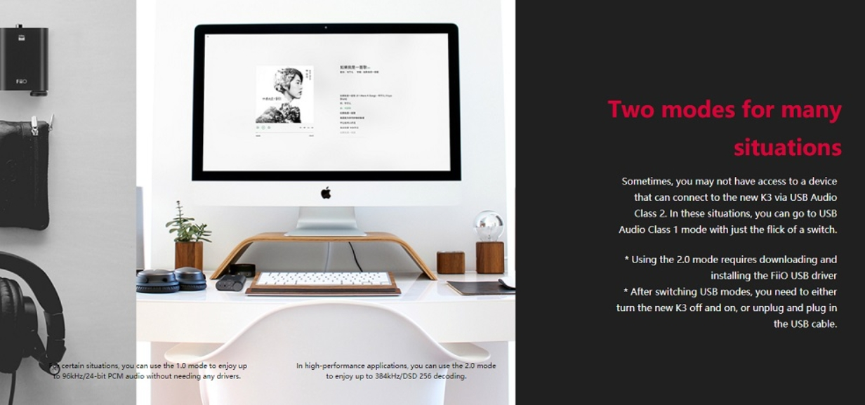 DAC/AMP desktop Fiio K3 New