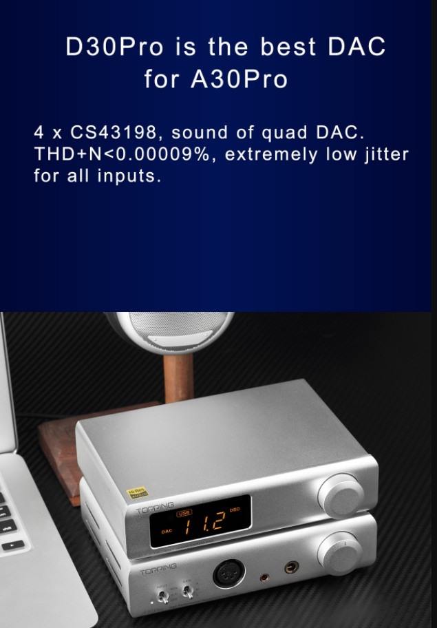Dac/amp Topping A30 Pro