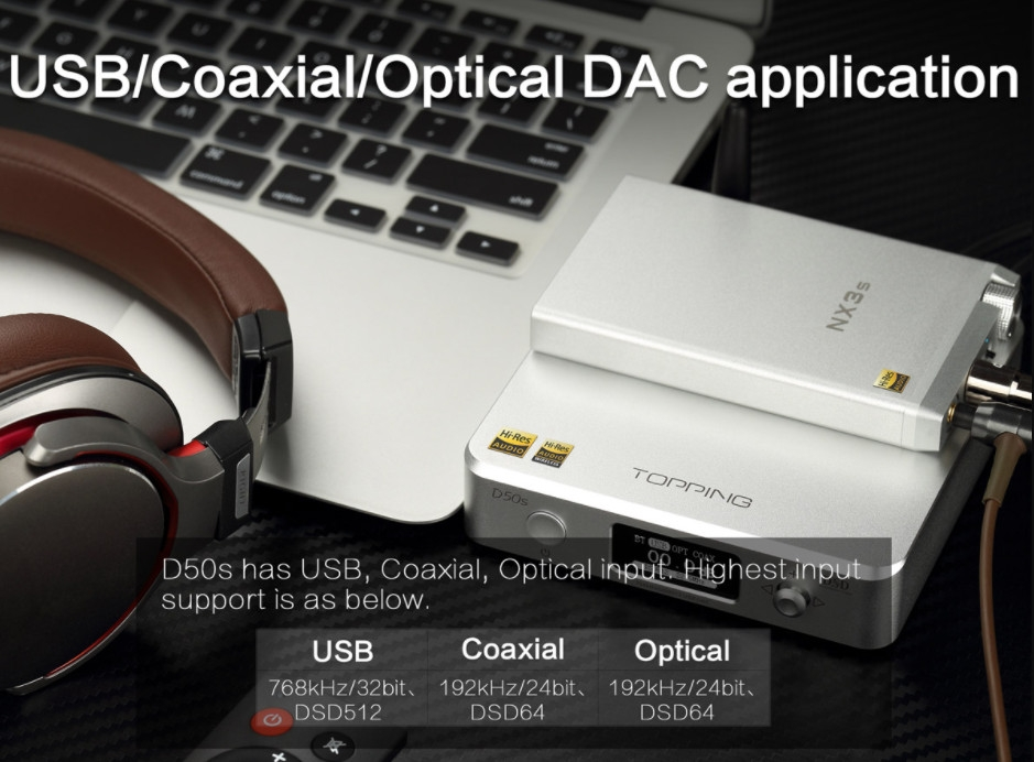 Dac/amp Topping D50s