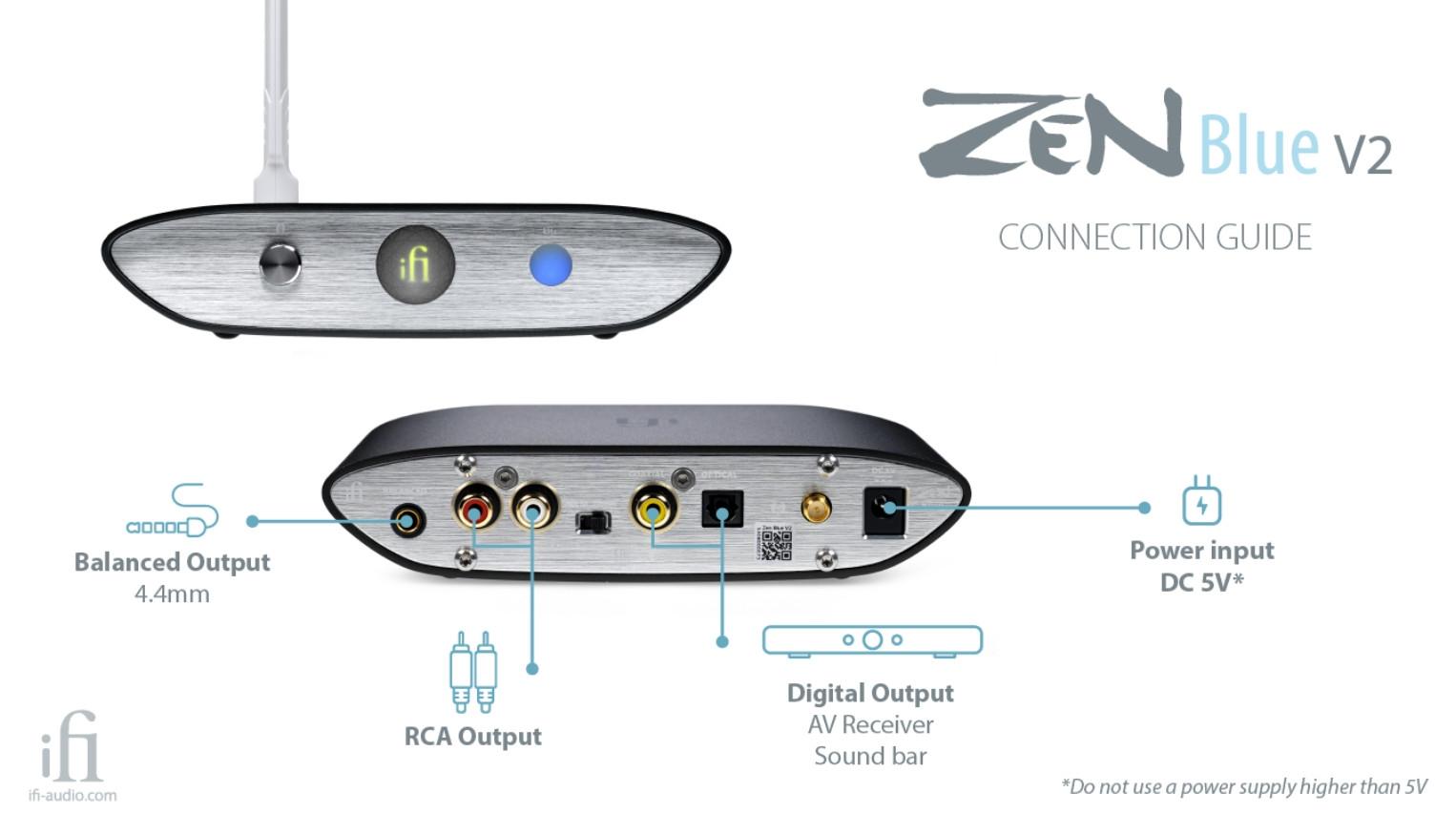 DAC hi-res BluetoothiFi Zen Blue V2: Bản nâng cấpmới của iFi