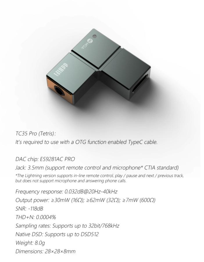 ddHiFi TC35 Pro USB to 3.5 Decoder