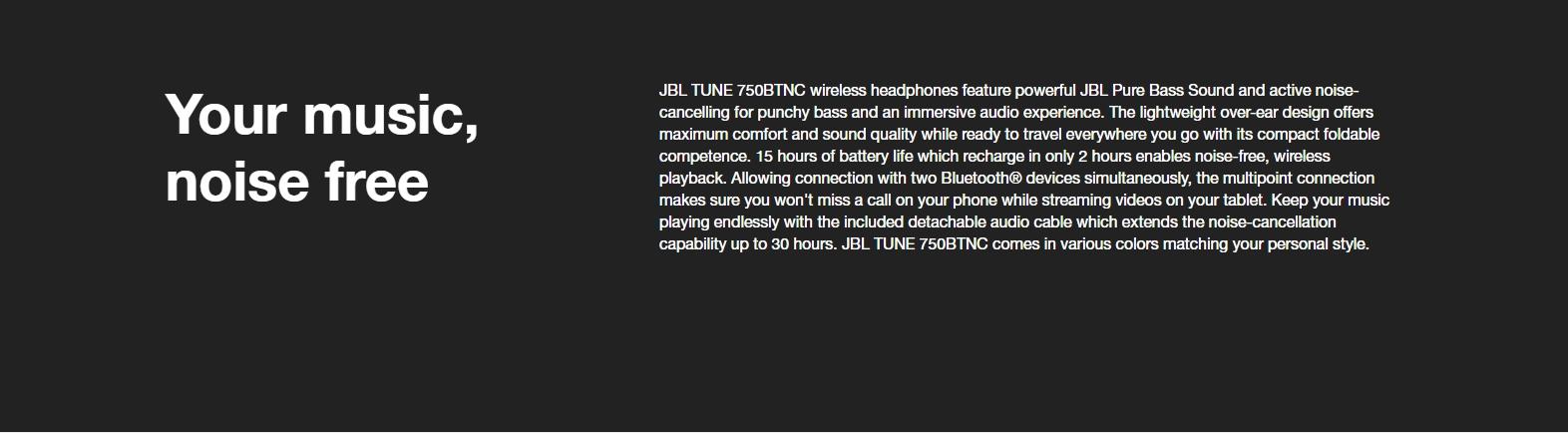 JBL TUNE 750BTNC