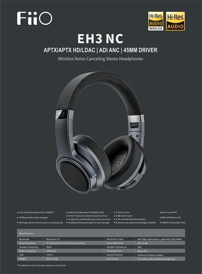Tai nghe âm thanh không dây đầu tiên của FiiO EH3NC