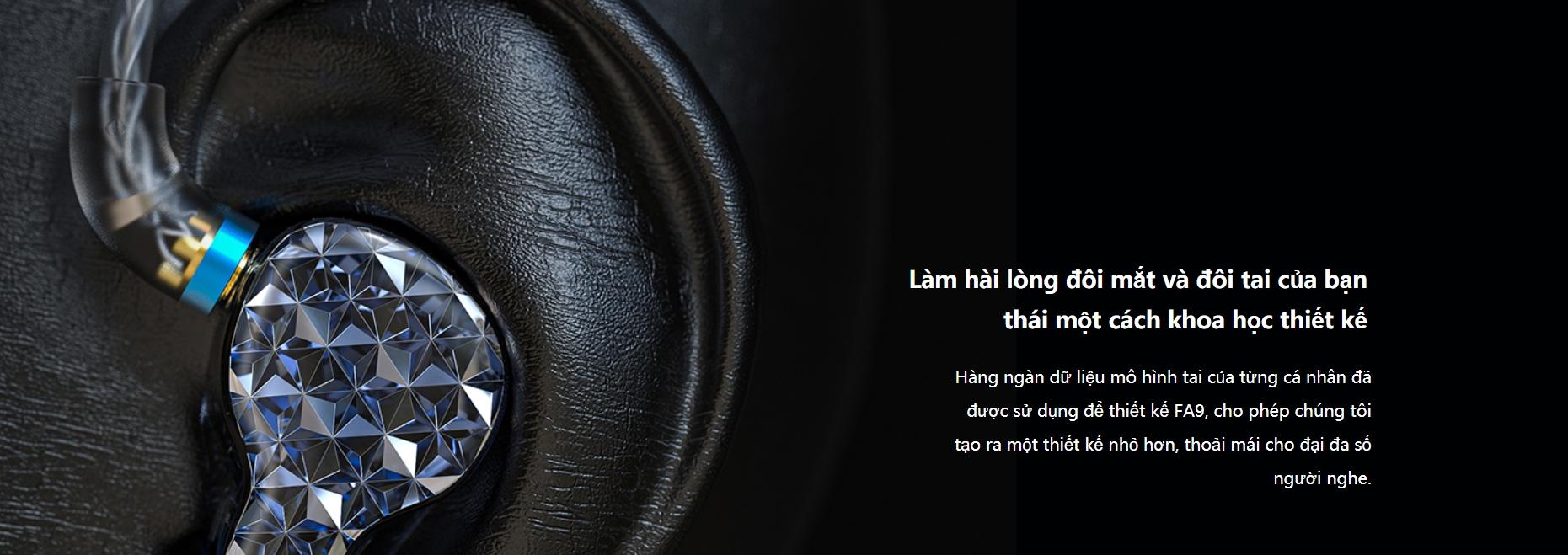 Tai nghe Fiio FA9 với 6 driver BA mới có công tắc điều khiển dải âm và trở kháng