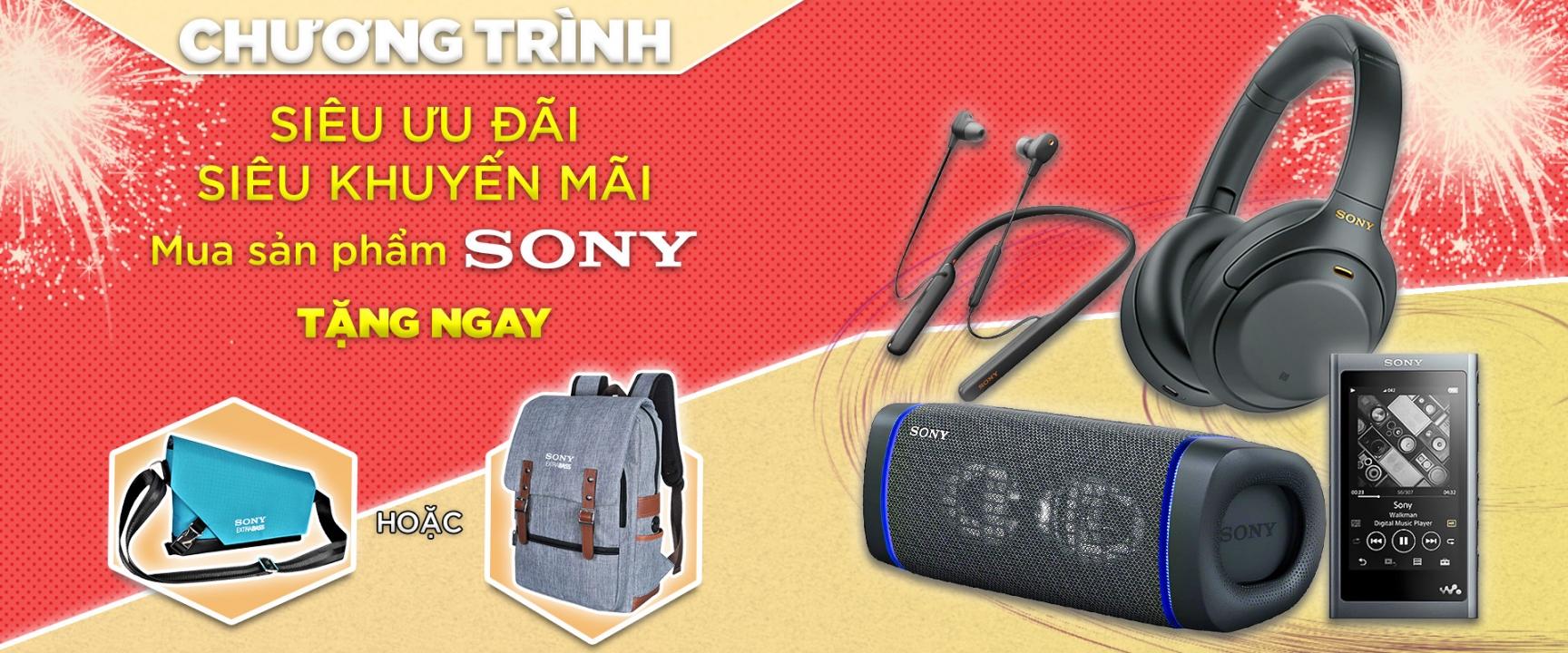 Nhận ngay quà tặng từ Sony khi mua sản phẩm tại Fitgear Shop