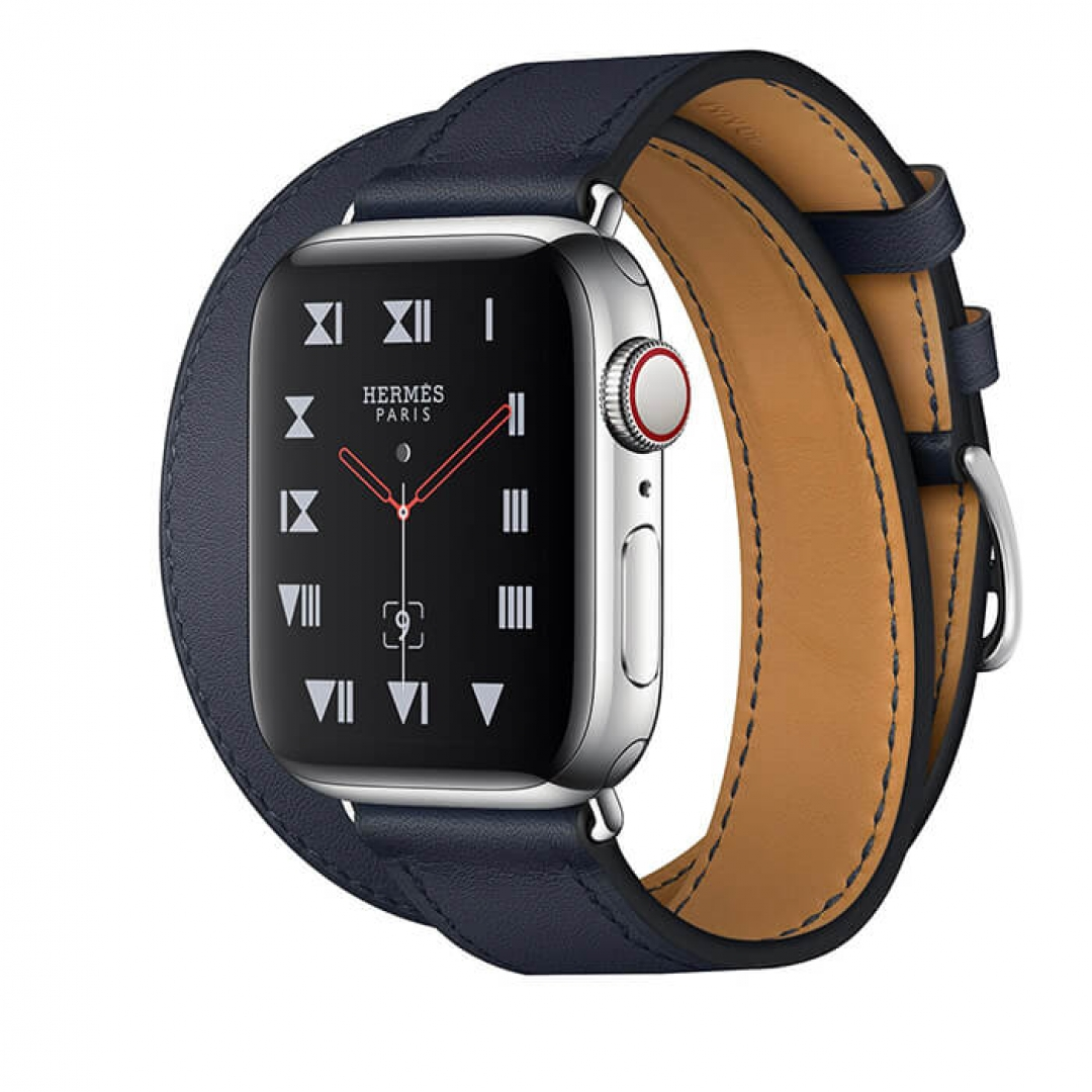 Apple Watch  Series 4  Hermès Stainless Steel Case Leather Double Tour