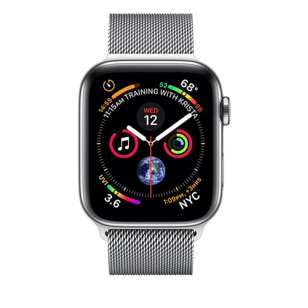 Apple Watch Series 4 Stainless Steel Case with Milanese Loop (GPS + Cellular)
