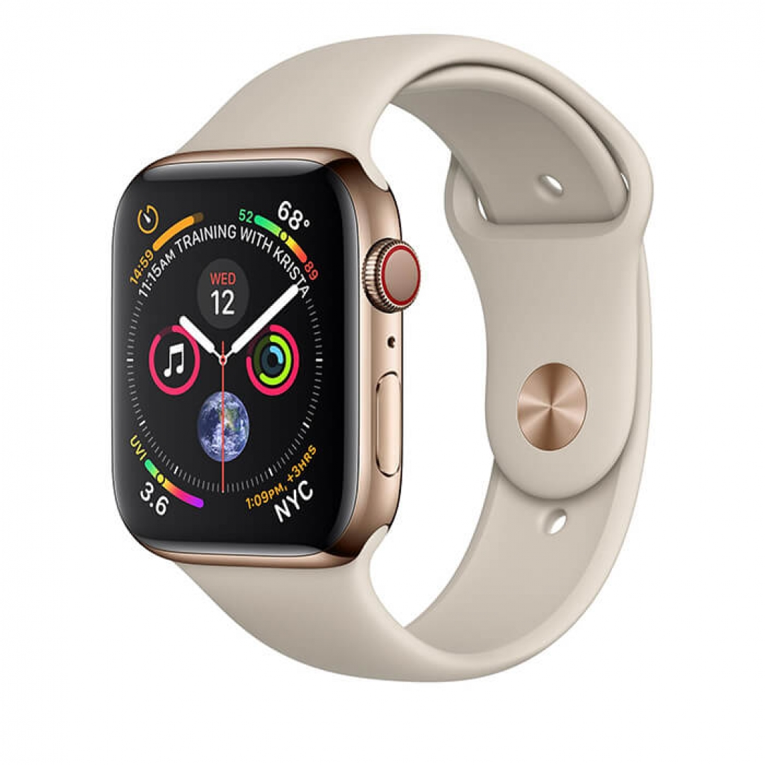 Apple Watch Series 4 Steel Case with Sport Band (GPS + Cellular)