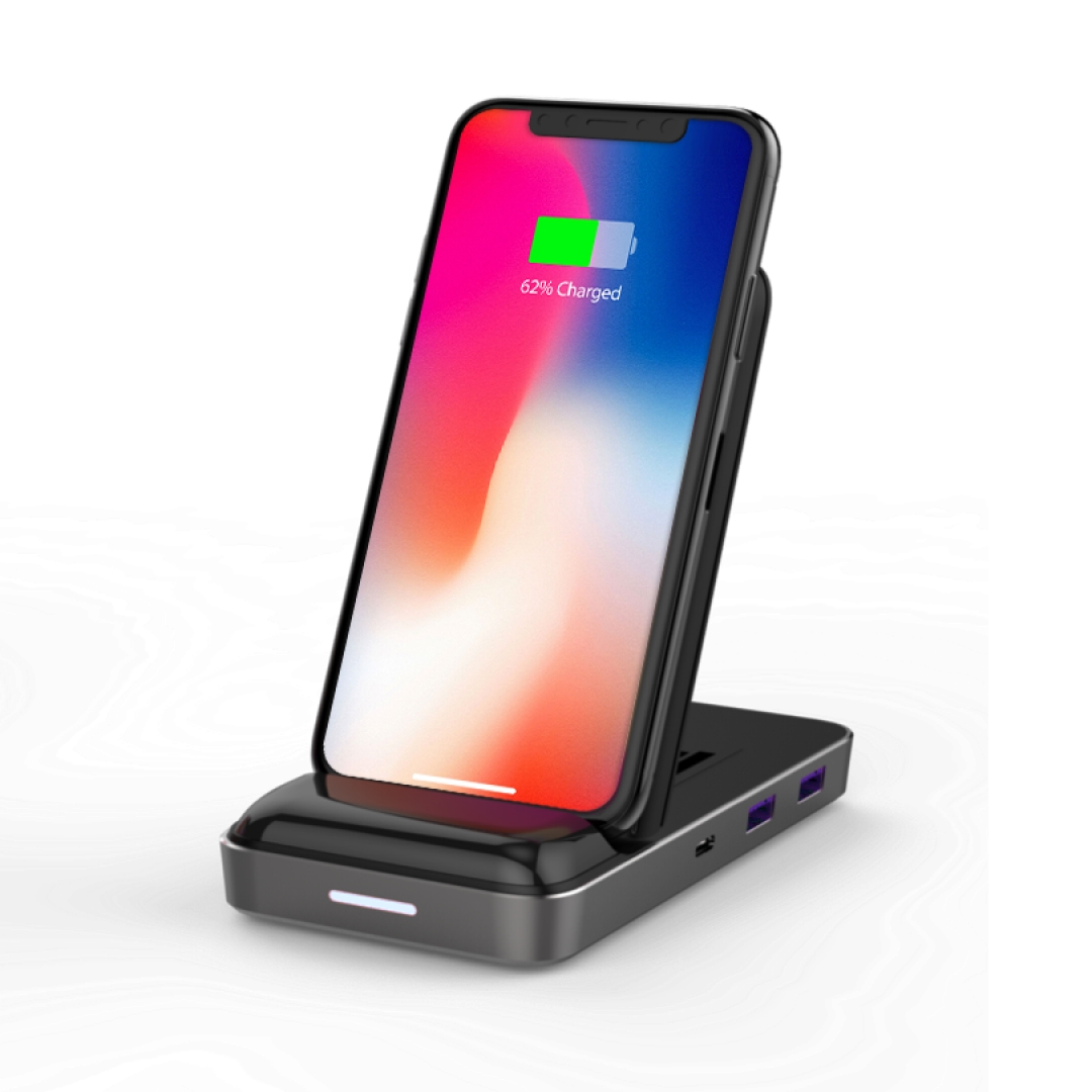HyperDrive 7.5W Wireless Charger USB-C Hub