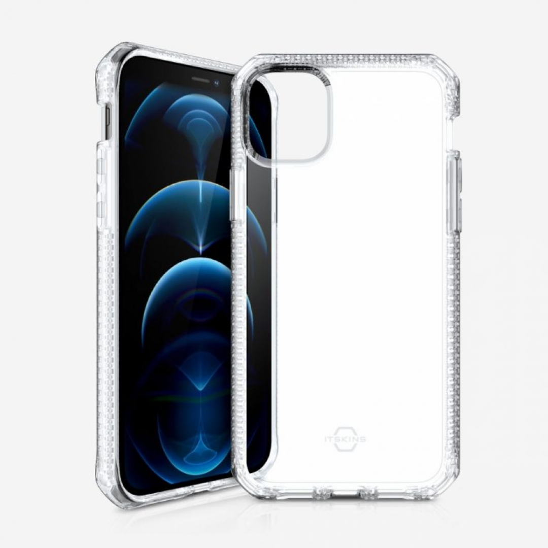 Ốp Lưng iphone ITSKINS (Pháp) Spectrum Clear Antimicrobial Drop Safe cho iphone 12