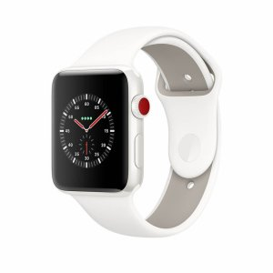 Apple Watch Series 3 Edition White Ceramic Case with Soft White/Pebble Sport Band