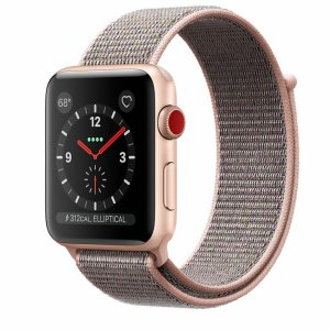 Apple Watch Series 3 GPS + Cellular - Gold Aluminum Case with Pink Sand Sport Loop