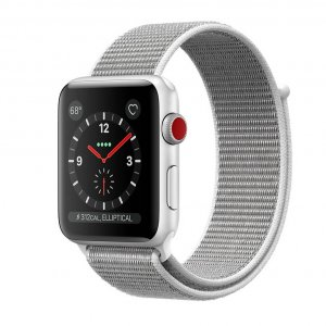 Apple Watch Series 3 GPS + Cellular 38mm - Silver Aluminum Case with Seashell Sport Loop