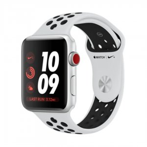 Apple Watch Series 3 GPS + Cellular  - Nike+ Silver Aluminum Case with Pure Platinum/Black Nike Sport Band