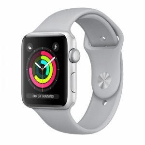 Apple Watch Series 3 GPS + Cellular- Silver Aluminum Case with Fog Sport Band