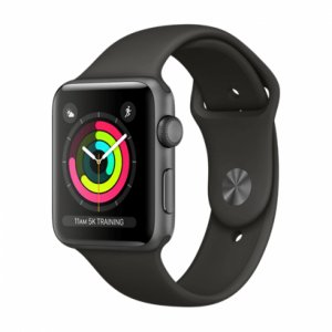 Apple Watch Series 3 GPS + Cellular - Space Gray Aluminum Case with Gray Sport Band