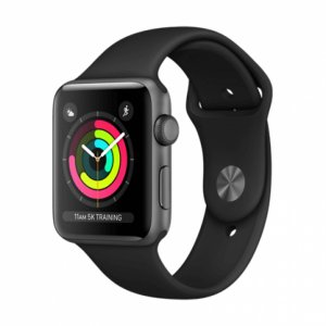 Apple Watch Series 3 GPS + Cellular - Space Gray with Black Sport Band