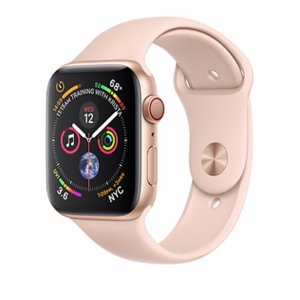 Apple Watch Series 4 GPS + Cellular, 40mm Gold Aluminum Case with Pink Sand Sport Band