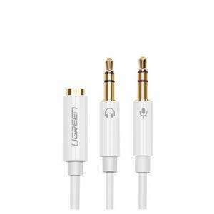 Ugreen 20897 Audio 3.5mm(fale) Ugreen sang 2 đầu mic và tai nghe