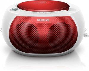 Máy CD Cassette Philips AZ100R/12 (Đỏ)