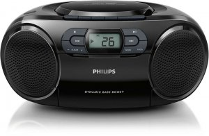 Máy CD Cassette Philips AZ329/61 (Đen)
