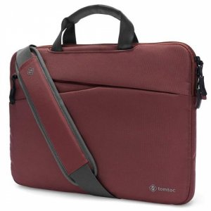 Túi chống sốc Macbook Pro 13 inch TOMTOC Messenger bags Dark Red A45-C01