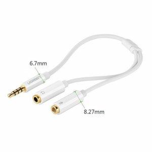 Ugreen 10789 Dây chuyển âm thanh 3.5mm dương sang Jack Mic + Loa âm AV141