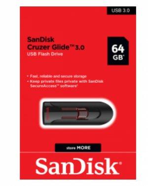 USB 64GB - SanDisk Cruzer Glide 3.0 - Flash Drive